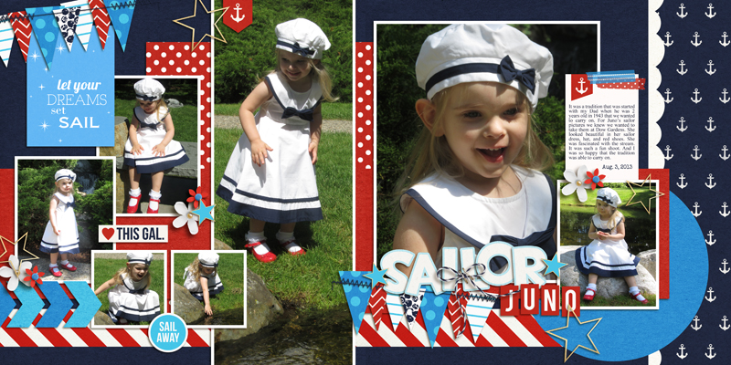 Sailor Digital Scrapbook Double Page by melissa using Project Mouse (At Sea): Bundle by Britt-ish Designs & Sahlin Studio