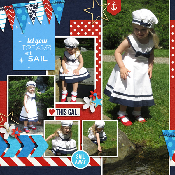 Sailor Digital Scrapbook left Page by melissa using Project Mouse (At Sea): Bundle by Britt-ish Designs & Sahlin Studio