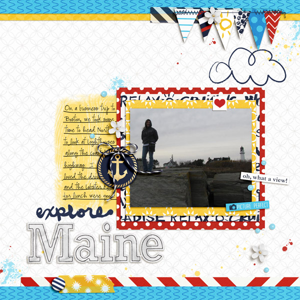 Maine Digital Scrapbook Page by melrio using Project Mouse (At Sea): Bundle by Britt-ish Designs & Sahlin Studio