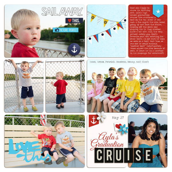Cruise / Ferry Digital Project Life Page by plumdumpling using Project Mouse (At Sea): Bundle by Britt-ish Designs & Sahlin Studio