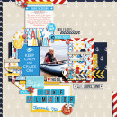 Lake Vacation Digital Scrapbook Page by pne123 using Project Mouse (At Sea): Bundle by Britt-ish Designs & Sahlin Studio