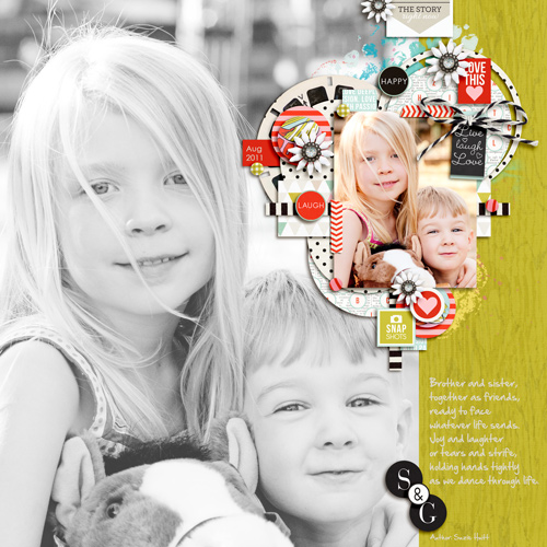 Digital scrapbook page created by pne123 featuring Melon Sorbet by Sahlin Studio