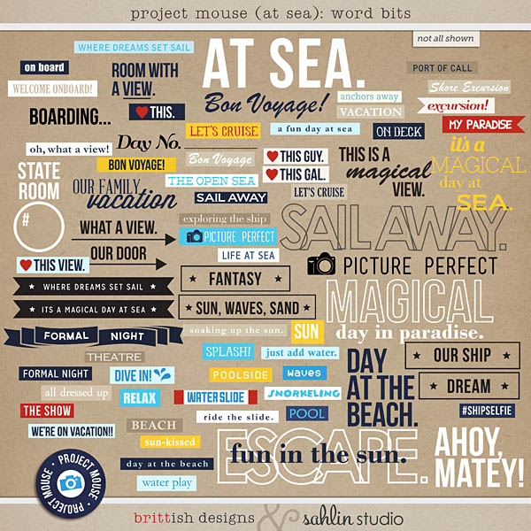 Project Mouse (At Sea): Word Bits by Britt-ish Designs and Sahlin Studio