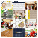 Digital Pocket Scrapbooking Page by plumdumpling using P.S. I Love You (Kit) by Sahlin Studio