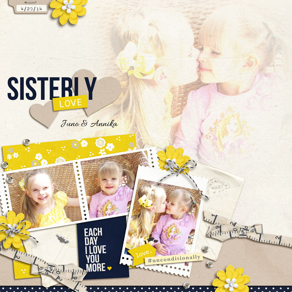 Sisters by yzerbear19 using P.S. I Love You (Kit) by Sahlin Studio