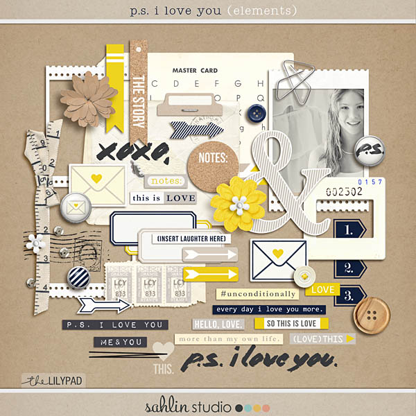 P.S. I Love You (Elements) by Sahlin Studio
