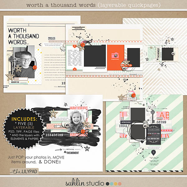 Worth A Thousand Words (Layered Quickpages) by Sahlin Studio