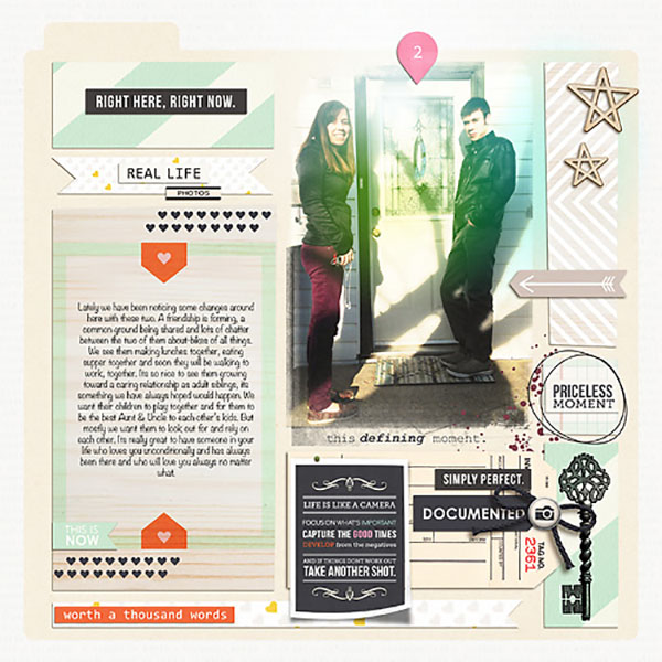 Priceless Moment Digital Scrapbooking Layout by Heather-Prins using Worth A Thousand Words by Sahlin Studio