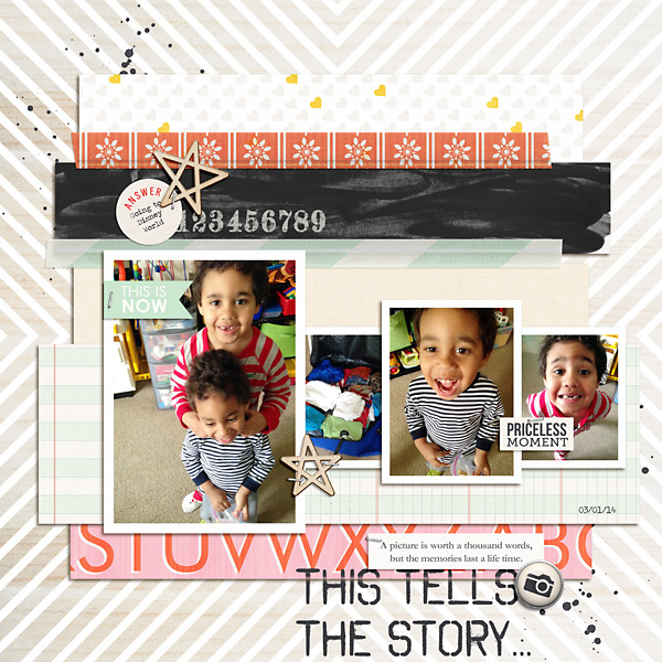 Digital Scrapbooking Layout by PuSticks using Worth A Thousand Words by Sahlin Studio