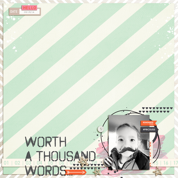 Remember This Digital Scrapbooking Layout by aballen using Worth A Thousand Words by Sahlin Studio