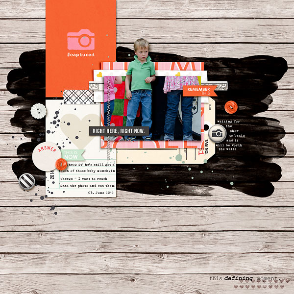 Digital Scrapbooking Layout by amberr using Worth A Thousand Words by Sahlin Studio