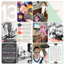 Digital Project Life Layout (L) by britt using Worth A Thousand Words by Sahlin Studio