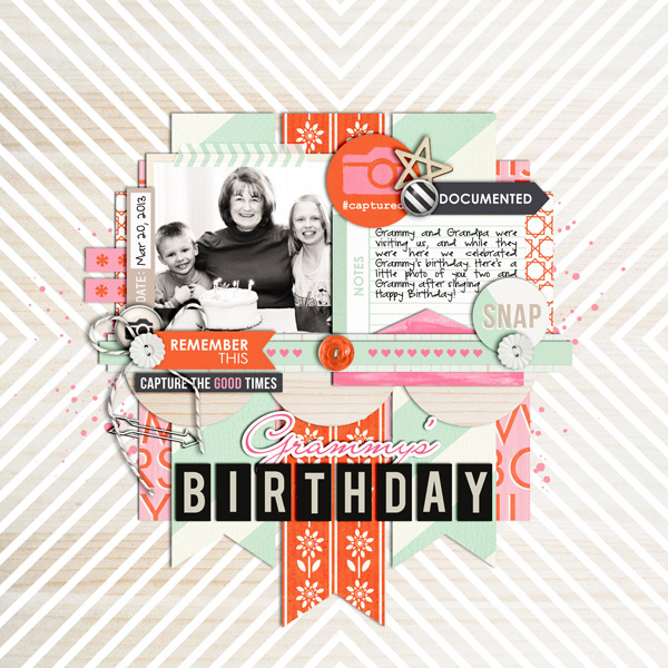 BIRTHDAY Digital Scrapbooking Layout by cindys732003 using Worth A Thousand Words by Sahlin Studio
