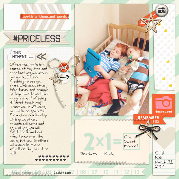 Digital Scrapbooking Layout by editorialdragon using Worth A Thousand Words by Sahlin Studio