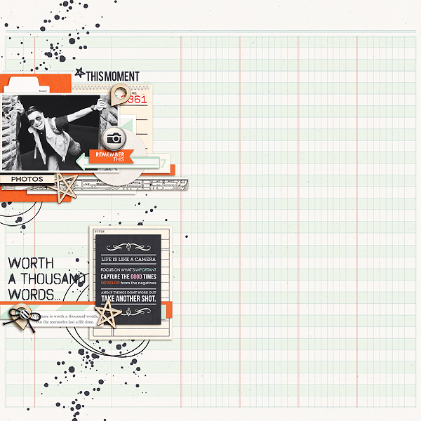 This Moment Digital Scrapbooking Layout by icajovita using Worth A Thousand Words by Sahlin Studio