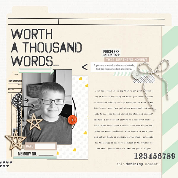 Remember This Digital Scrapbooking Layout by kristasahlin using Worth A Thousand Words by Sahlin Studio