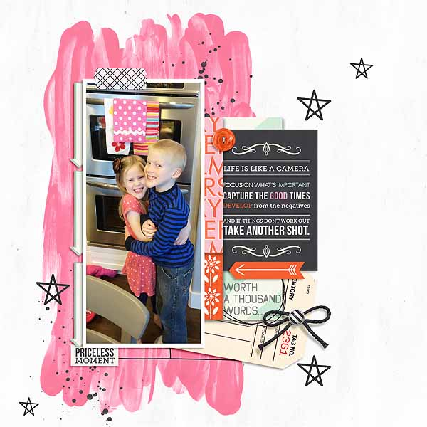 Priceless Moment Digital Scrapbook Layout by mamatothree using Worth A Thousand Words by Sahlin Studio