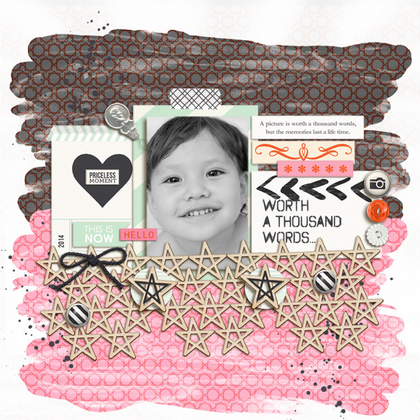 Priceless Moment Digital Scrapbooking Layout by mikinenn using Worth A Thousand Words by Sahlin Studio