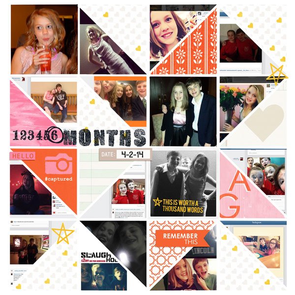 6 Months Digital Scrapbooking Layout by norton94 using Worth A Thousand Words by Sahlin Studio