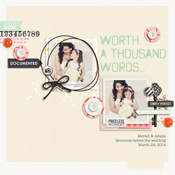 Priceless Moment Digital Scrapbooking Layout by raquels using Worth a Thousand Words by Sahlin Studio