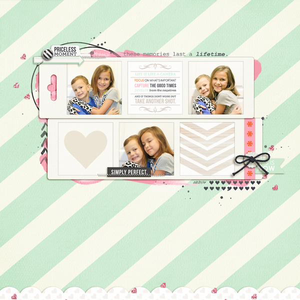 Simply Perfect Digital Scrapbooking Layout by rlma using Worth A Thousand Words by Sahlin Studio