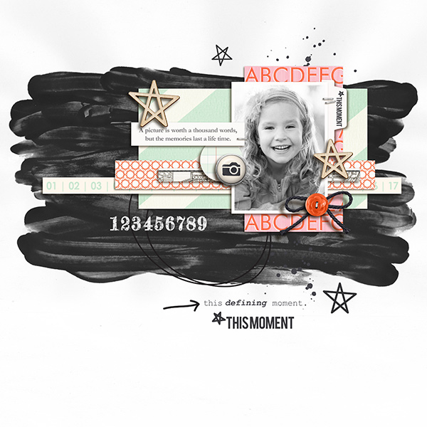 This Moment Digital Scrapbooking Layout by sucali using Worth A Thousand Words by Sahlin Studio