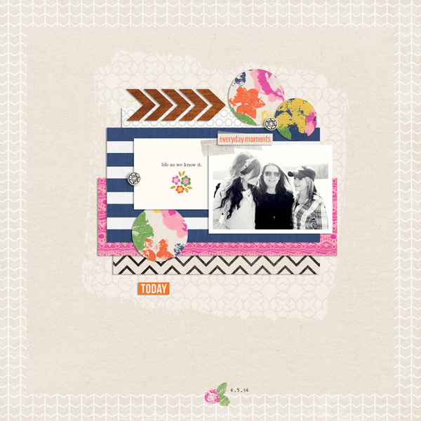 Digital Scrapbook Page by EHStudios using Life As We Know It kit by Sahlin Studio