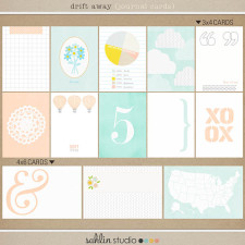 drift away (journal cards) by sahlin studio
