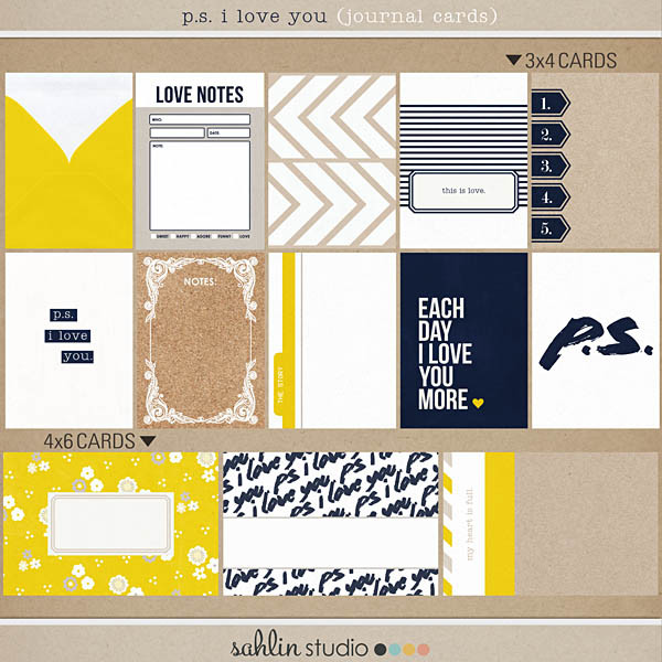 P.S. I Love You (Journal Cards) by Sahlin Studio