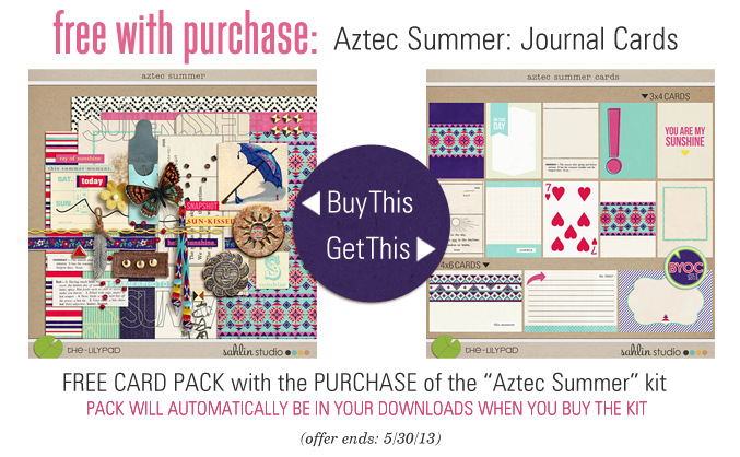 Aztec Summer kit and journal cards - FREE with Purchase by Sahlin Studio