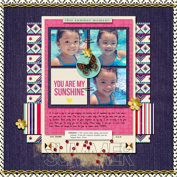 digital scrapbooking layout created by dianeskie featuring Aztec Summer by Sahlin Studio