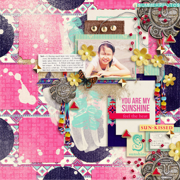 digital scrapbooking layout created by icajovita featuring Aztec Summer by Sahlin Studio