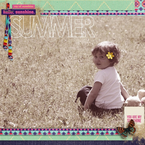 digital scrapbooking layout created by MlleTerraMoka featuring Aztec Summer by Sahlin Studio