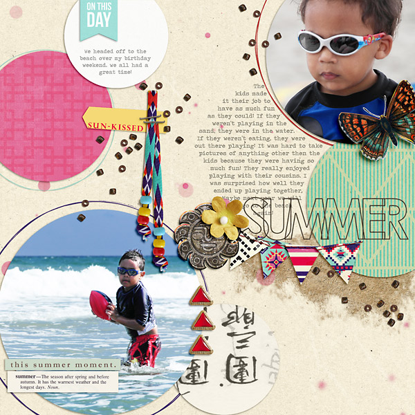 digital scrapbooking layout created by PuSticks featuring Aztec Summer by Sahlin Studio