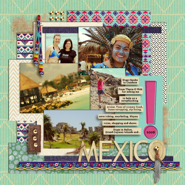 digital scrapbooking layout created by roboliver featuring Aztec Summer by Sahlin Studio