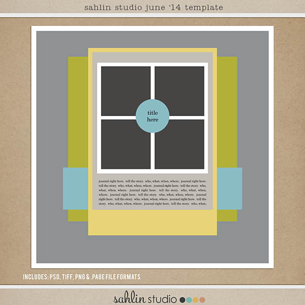 June 2014 FREE Template by Sahlin Studio