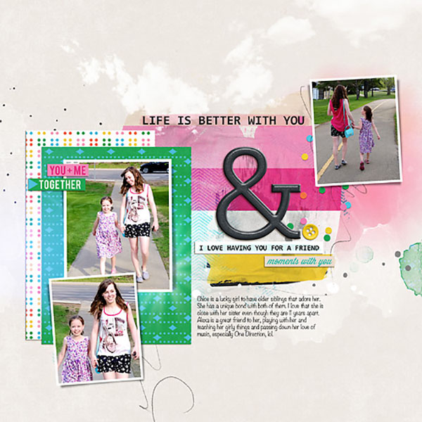 Digital Scrapbook Layout by HeatherPrins using Life Is Better With You Mini Kit by Sahlin Studio