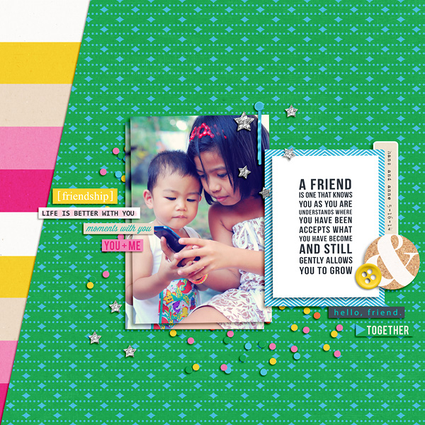 Digital Scrapbook Layout by dianeskie using Life Is Better With You Mini Kit by Sahlin Studio