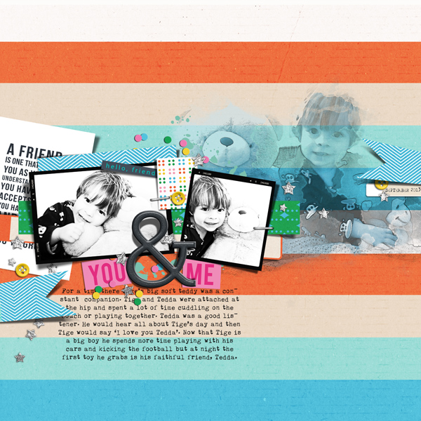 Digital Scrapbook Layout by justagirl using Life Is Better With You Mini Kit by Sahlin Studio
