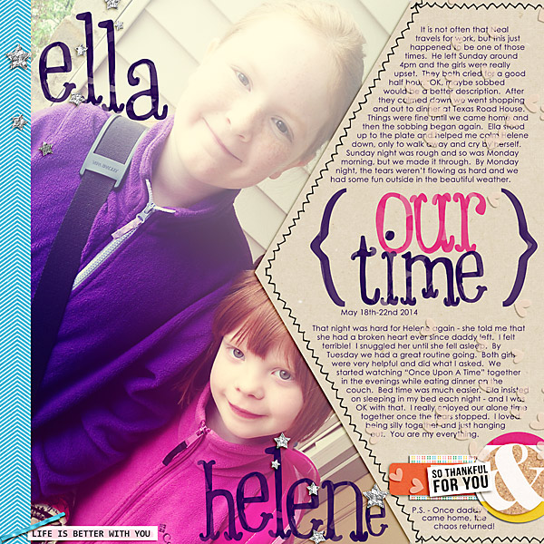 Digital Scrapbook Layout by stampin_rachel using Life Is Better With You Mini Kit by Sahlin Studio
