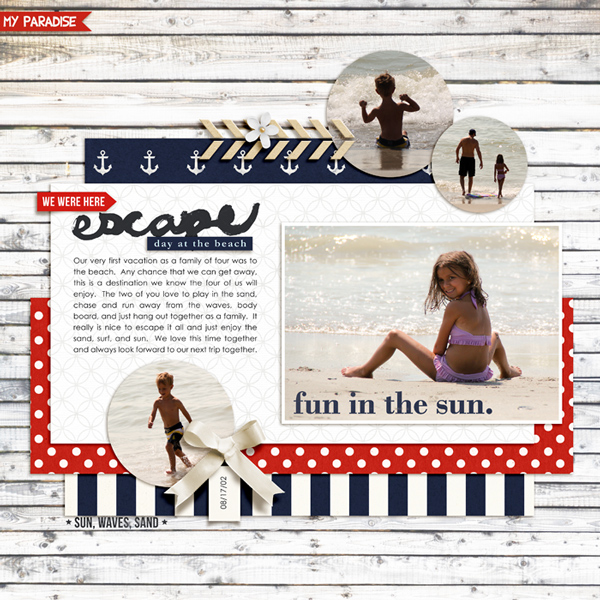Ocean Lake Beach digital scrapbook page by rlma featuring Project Mouse (At Sea): Elements by Britt-ish Designs and Sahlin Studio