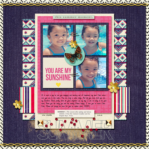 digital scrapbooking layout created by dianeskie featuring the June 2014 FREE Template by Sahlin Studio