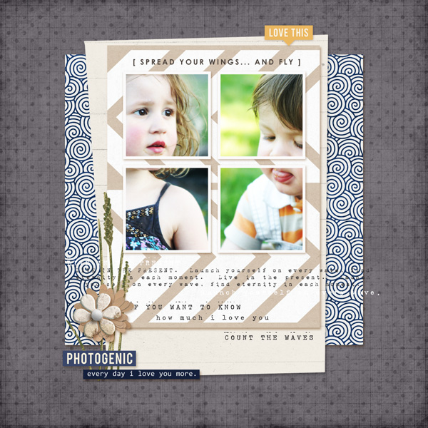 digital scrapbooking layout created by MlleTerraMoka featuring the June 2014 FREE Template by Sahlin Studio