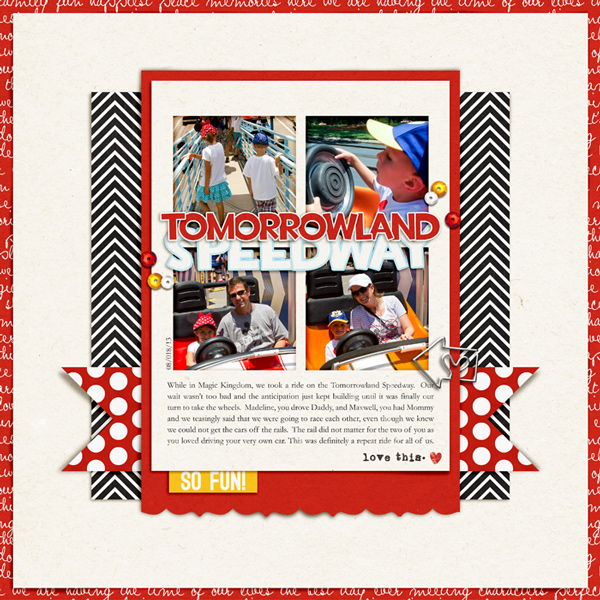 digital scrapbooking layout created by rlma featuring the June 2014 FREE Template by Sahlin Studio