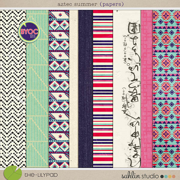 Aztec Summer Papers by Sahlin Studio