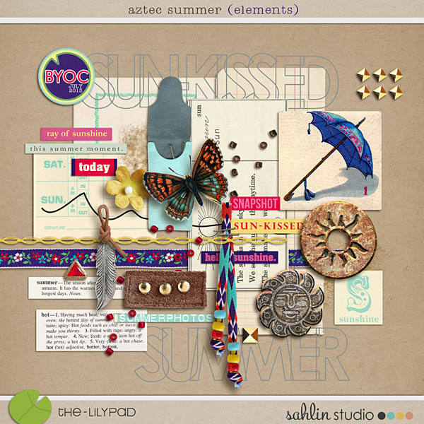Aztec Summer Elements by Sahlin Studio