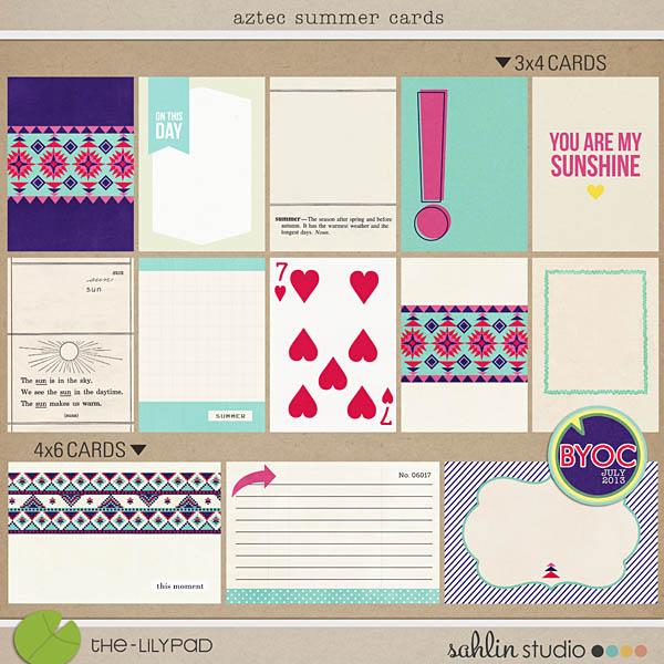 Aztec Summer Journal Cards by Sahlin Studio