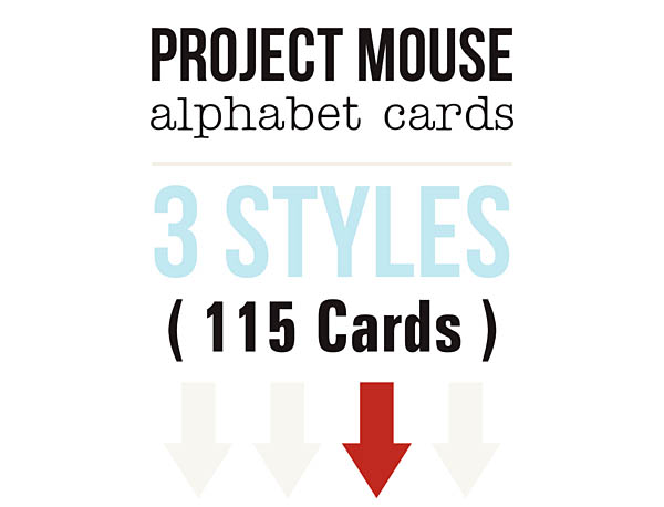 Project Mouse Alphabet Cards - In 3 STYLES!