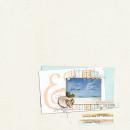 Beach Summer Digital Scrapbook Page by FarrahJobling using Drift Away by Sahlin Studio