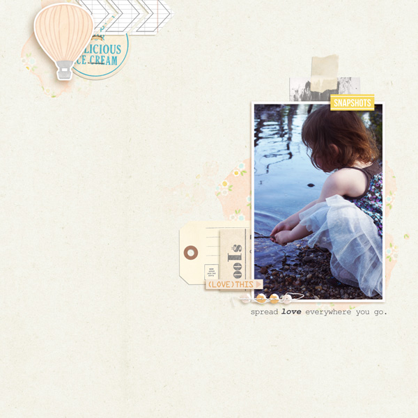 Digital Scrapbook Page by MlleTerraMoka using Drift Away Kit by Sahlin Studio